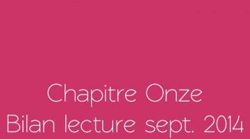 Bilan de lecture septembre 2014
