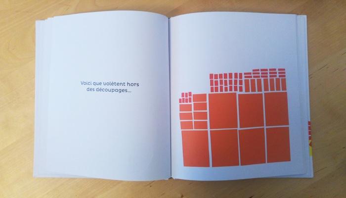 des rectangles de couleur en papier decoupe
