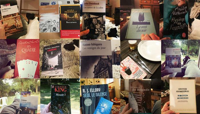 Les lectures qui m'ont accompagnée tout au long de l'année 2018. 17 en tout !
