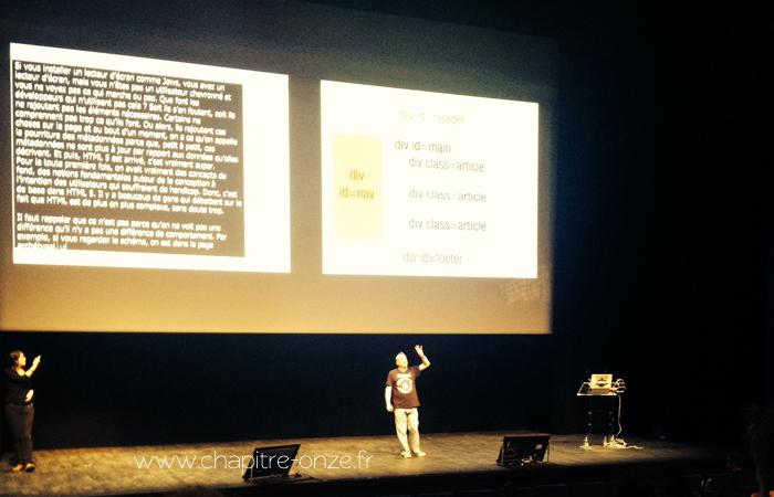 """Bruce Lawson """"Les Web Components, la marche à suivre"""", langage des signes et vélotypie"""
