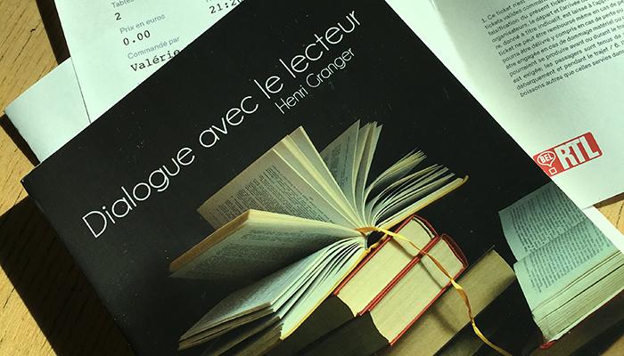 Dialogue avec le lecteur d'Henri Granger
